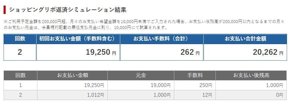 20000リボ