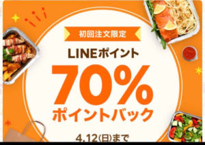 LINEポイント70%ポイントバック