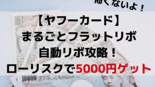 【ヤフーカード】自動リボ設定キャンペーンでローリスクで5000円ゲットする方法
