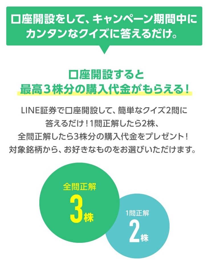 LINE証券初株チャンス